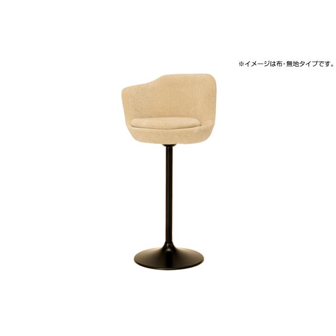 【 キッチンチェア キッチン椅子 パソコンチェア 日本製 激安 カウンターチェア バーチェア カフェ バー 美容院 店舗用 業務用 40色 】 スタンドチェアー グーナ(右) (レザータイプ) 脚カラー(ベース×ポール):黒×黒