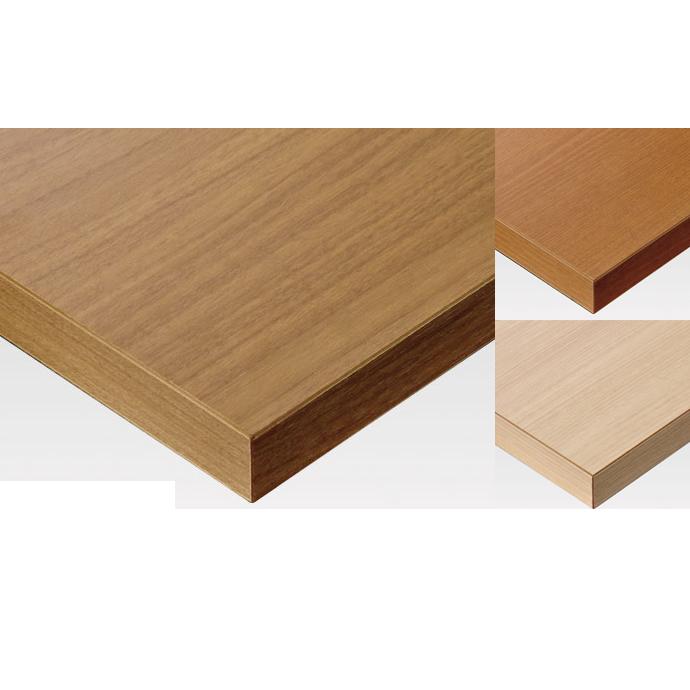 【 テーブル天板のみ 】テーブル天板 メラミン化粧板 共巻き仕上げ 木目 T-0011 W600×D600×t40 【 テーブル天板 パーツ 机 DIY 】