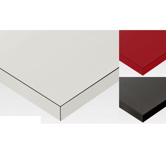 【 テーブル天板のみ 】テーブル天板 メラミン化粧板 共巻き仕上げ 単色 T-0012 W600×D600×t40 【 テーブル天板 パーツ 机 DIY 】
