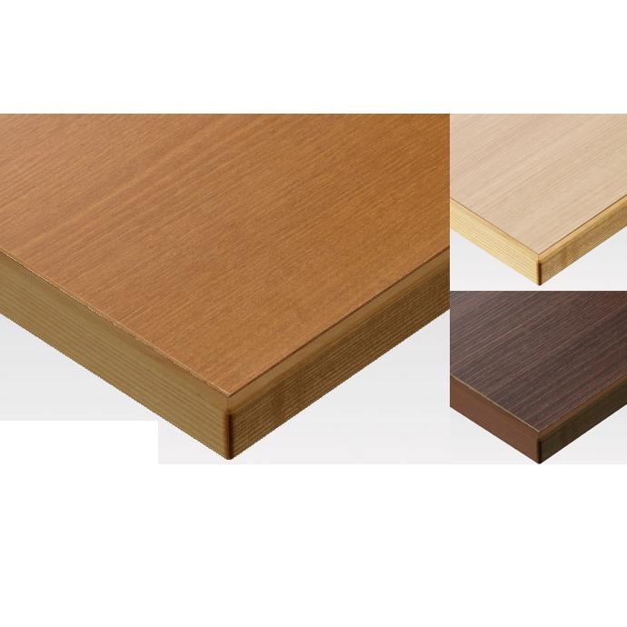 【 テーブル天板のみ 】テーブル天板 メラミン化粧板 木ブチ付木目柄 T-0013 W600×D600×t30 【 テーブル天板 パーツ 机 DIY 】