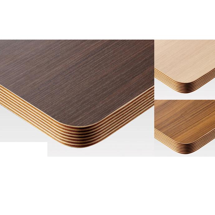 【 テーブル天板のみ 】テーブル天板 メラミン化粧板 角Rウッドテープ巻き 木目 T-0019 W600×D600×t30 【 テーブル天板 パーツ 机 DIY 】