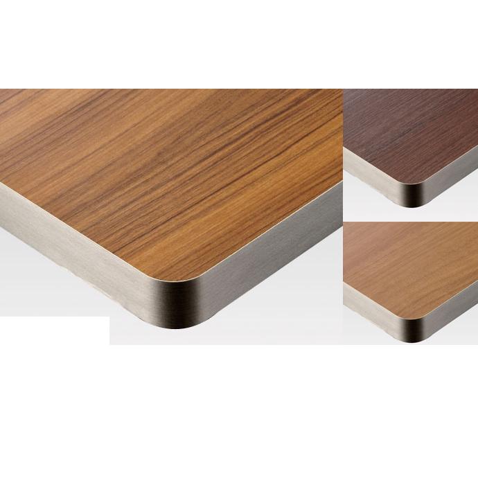 【 テーブル天板のみ 】テーブル天板 メラミン化粧板 シルバーテープ巻き木目 T-0022 W600×D600×t30 【 テーブル天板 パーツ 机 DIY 】