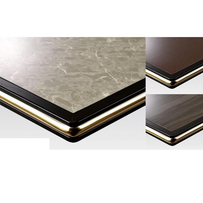 【 テーブル天板のみ 】テーブル天板 メラミン化粧板 ゴールドモール入り 黒 T-0027 W600×D600×t35 【 テーブル天板 パーツ 机 DIY 】