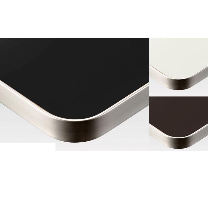 【 テーブル天板のみ 】テーブル天板 メラミン化粧板 アルミエッジシルバーフラット 単色 T-0029 W600×D600×t31.5 【 テーブル天板 パーツ 机 DIY 】