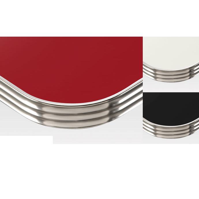 【 テーブル天板のみ 】テーブル天板 メラミン化粧板 アルミエッジシルバー波型 単色 T-0031 W600×D600×t35 【 テーブル天板 パーツ 机 DIY 】
