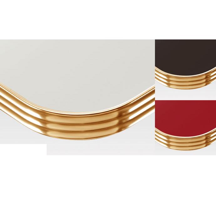 【 テーブル天板のみ 】テーブル天板 メラミン化粧板 アルミエッジゴールド波型 単色 T-0033 W1200×D600×t35 【 テーブル天板 パーツ 机 DIY 】