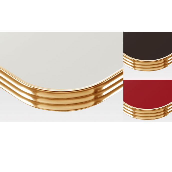 【 テーブル天板のみ 】テーブル天板 メラミン化粧板 アルミエッジゴールド波型 単色 T-0033 W600×D600×t35 【 テーブル天板 パーツ 机 DIY 】