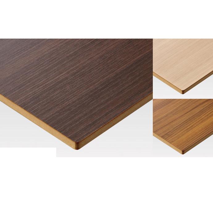 テーブル天板のみの販売。ダイニングテーブルや飲食店など店舗用に多目的に使えるシンプルなテーブル天板。 【 テーブル天板のみ 】テーブル天板 メラミン化粧板 シェイプアップエッジ角5R 木目 T-0035 W1200×D600×t30 【 テーブル天板 パーツ 机 DIY 】