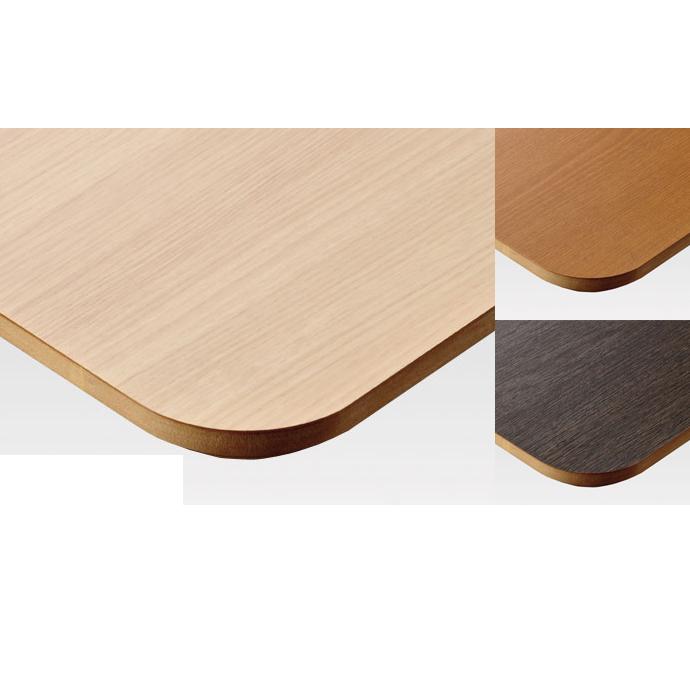 【 テーブル天板のみ 】テーブル天板 メラミン化粧板 シェイプエッジ角50R 木目 T-0036 W1200×D600×t30 【 テーブル天板 パーツ 机 DIY 】