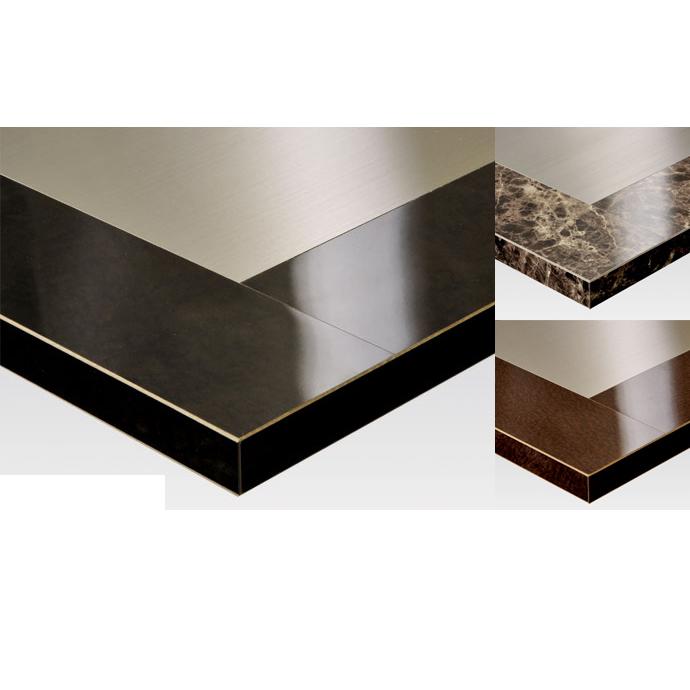 【 テーブル天板のみ 】テーブル天板 メラミン化粧板 メタルプレート入り石目調 T-0037 W600×D600×t30 【 テーブル天板 パーツ 机 DIY 】