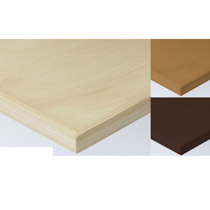 【 テーブル天板のみ 】テーブル天板 天然木 シナ突板 木ブチ付 T-0042 W600×D600×t40 【 テーブル天板 パーツ 机 DIY 】