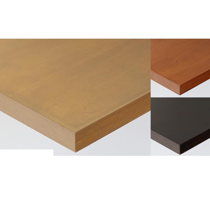 【 テーブル天板のみ 】テーブル天板 天然木 シナ突板 ストライプウッドテープ巻き T-0043 W600×D600×t30 【 テーブル天板 パーツ 机 DIY 】
