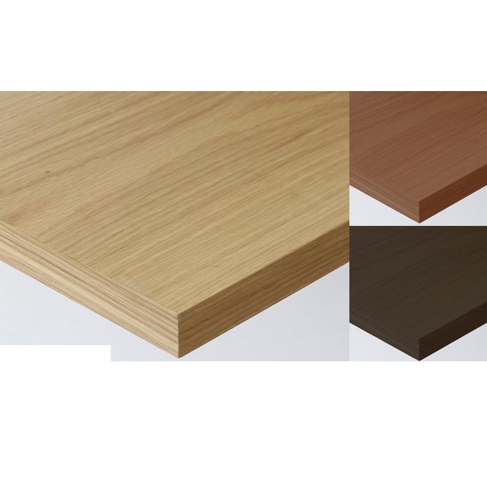 【 テーブル天板のみ 】テーブル天板 天然木 ナラ板目突板 共巻き仕上げ T-0044 W600×D600×t40 【 テーブル天板 パーツ 机 DIY 】