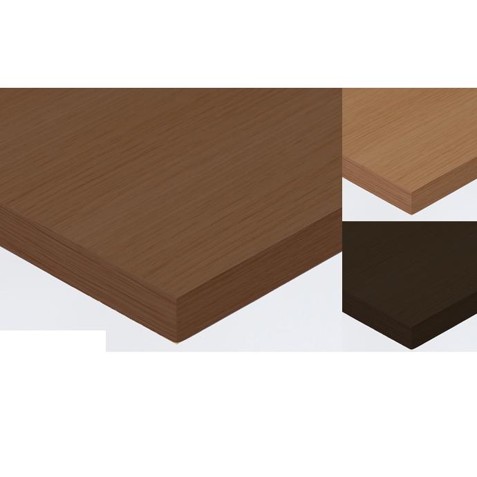 【 テーブル天板のみ 】テーブル天板 天然木 ナラ柾目突板 共巻仕上げ T-0047 W600×D600×t40 【 テーブル天板 パーツ 机 DIY 】