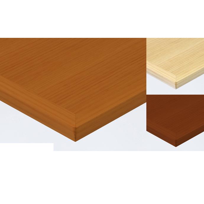 【 テーブル天板のみ 】テーブル天板 天然木 ナラ柾目突板 船底型木ブチ付 T-0049 W600×D600×t30 【 テーブル天板 パーツ 机 DIY 】