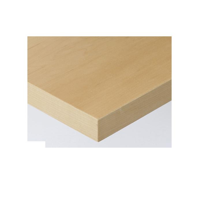 【 テーブル天板のみ 】テーブル天板 天然木 メープル板目突板 共巻仕上げ T-0050 W1200×D600×t40 【 テーブル天板 パーツ 机 DIY 】