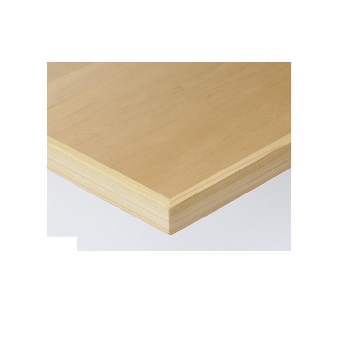 【 テーブル天板のみ 】テーブル天板 天然木 メープル板目突板 木ブチ付 T-0051 W600×D600×t30 【 テーブル天板 パーツ 机 DIY 】
