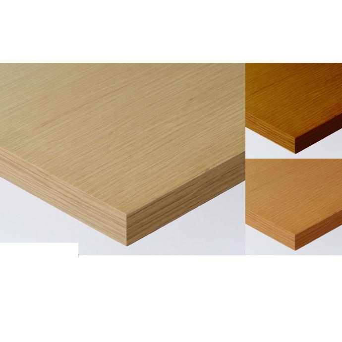 【 テーブル天板のみ 】テーブル天板 天然木 オーク柾目突板 共巻き仕上げ T-0056 W600×D600×t40 【 テーブル天板 パーツ 机 DIY 】