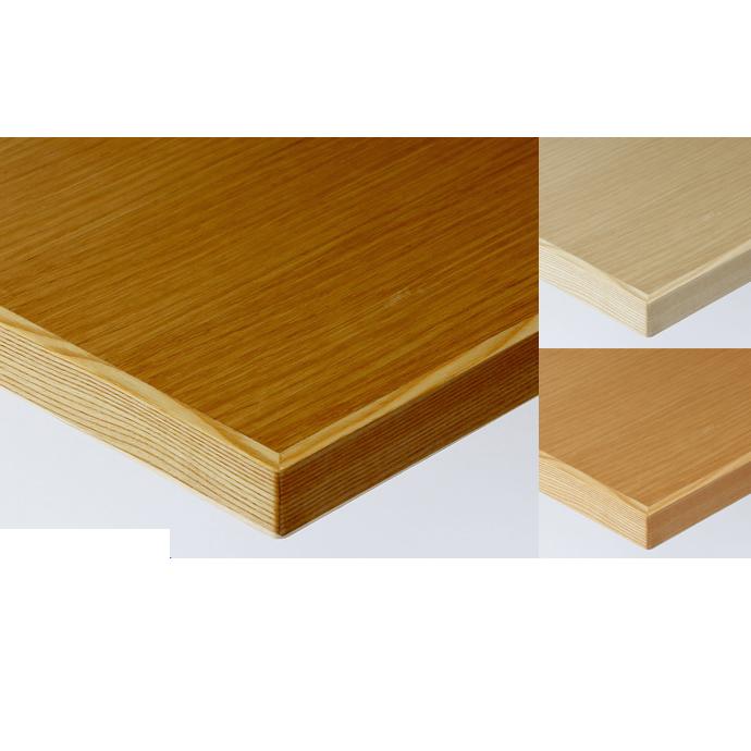【 テーブル天板のみ 】テーブル天板 天然木 オーク柾目突板 木ブチ付き T-0057 W600×D600×t40 【 テーブル天板 パーツ 机 DIY 】