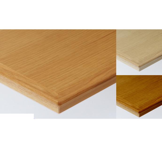 【 テーブル天板のみ 】テーブル天板 天然木 オーク柾目突板 船底型木ブチ付き T-0058 W1200×D600×t30 【 テーブル天板 パーツ 机 DIY 】