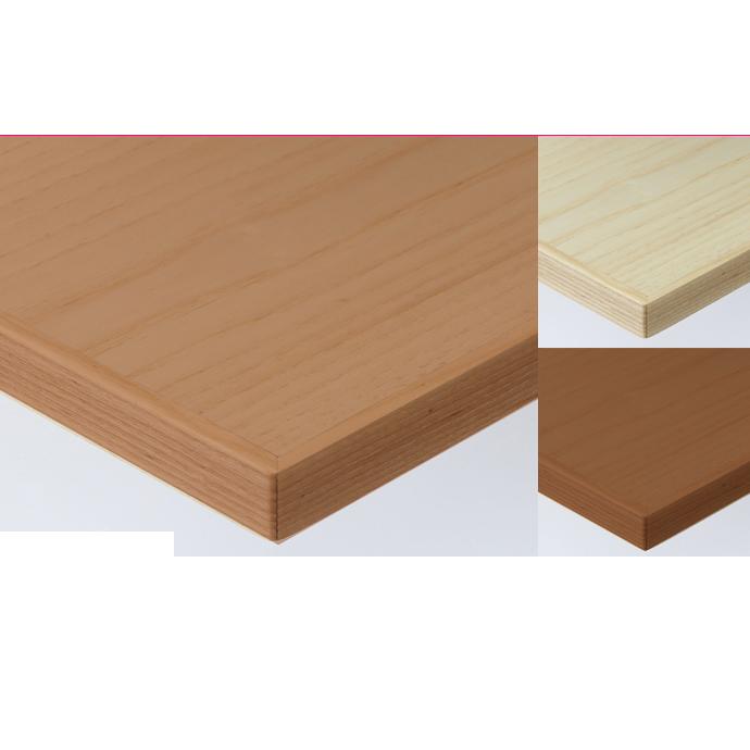 【 テーブル天板のみ 】テーブル天板 天然木 ホワイトアッシュ突板 木ブチ付 T-0060 W1200×D600×t30 【 テーブル天板 パーツ 机 DIY 】