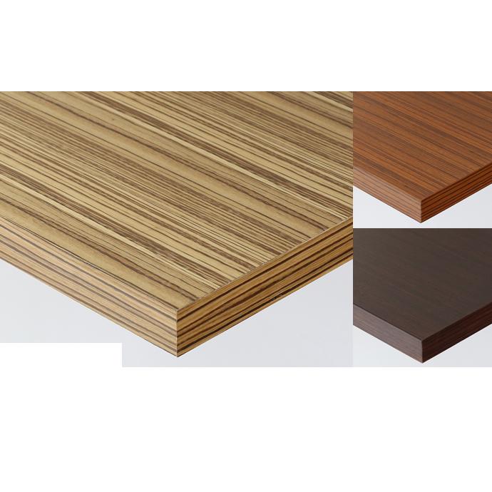 【 テーブル天板のみ 】テーブル天板 天然木 ゼブラウッド突板 共巻仕上げ T-0063 W600×D600×t30 【 テーブル天板 パーツ 机 DIY 】