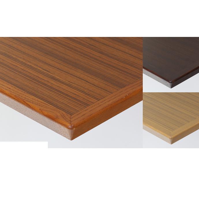 【 テーブル天板のみ 】テーブル天板 天然木 ゼブラウッド突板 船底型木ブチ付 T-0064 W600×D600×t40 【 テーブル天板 パーツ 机 DIY 】