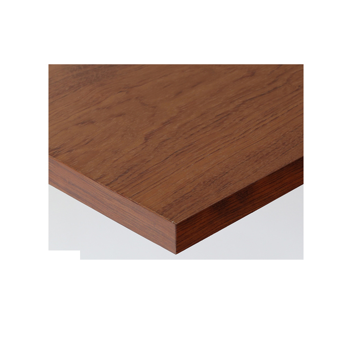 【 テーブル天板のみ 】テーブル天板 天然木 ブビンガ突板 共巻仕上げ T-0065 W600×D600×t30 【 テーブル天板 パーツ 机 DIY 】