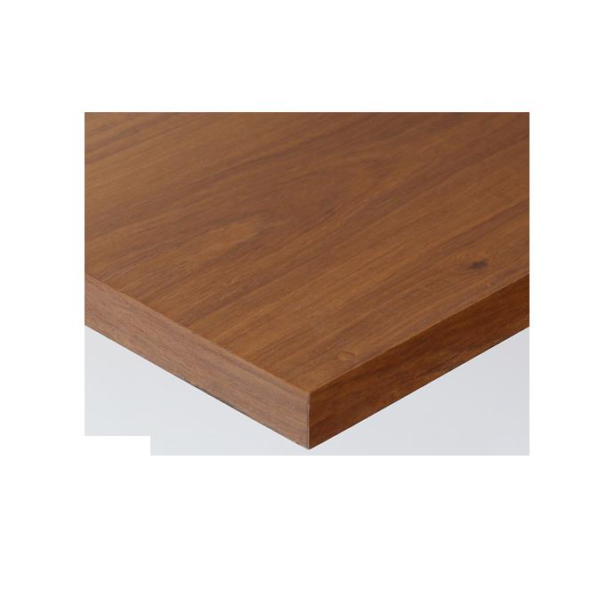 【 テーブル天板のみ 】テーブル天板 天然木 カリン突板 共巻仕上げ T-0066 W600×D600×t30 【 テーブル天板 パーツ 机 DIY 】