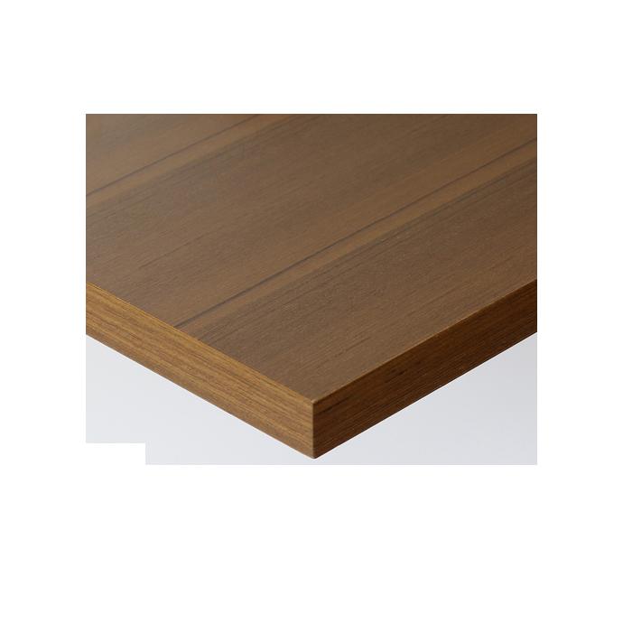 【 テーブル天板のみ 】テーブル天板 天然木 チーク板目突板 共巻仕上げ T-0069 W600×D600×t40 【 テーブル天板 パーツ 机 DIY 】