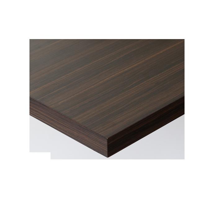 【 テーブル天板のみ 】テーブル天板 天然木 ローズウッド板目突板 共巻仕上げ T-0070 W600×D600×t30 【 テーブル天板 パーツ 机 DIY 】