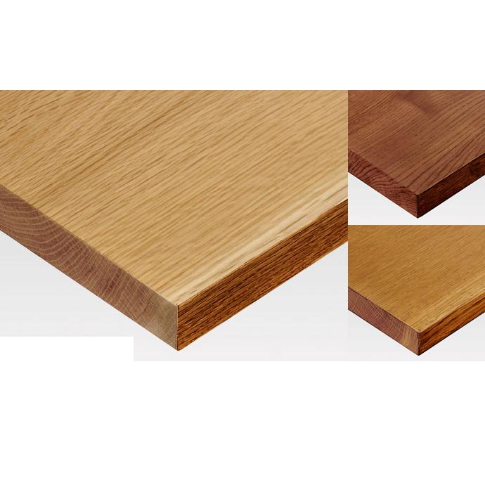 【 テーブル天板のみ 】テーブル天板 無垢天然木 ナラ 5枚剥ぎ(節、割れ、白太あり) T-0071 W600×D600×t28(~t30) 【 テーブル天板 パーツ 机 DIY 】
