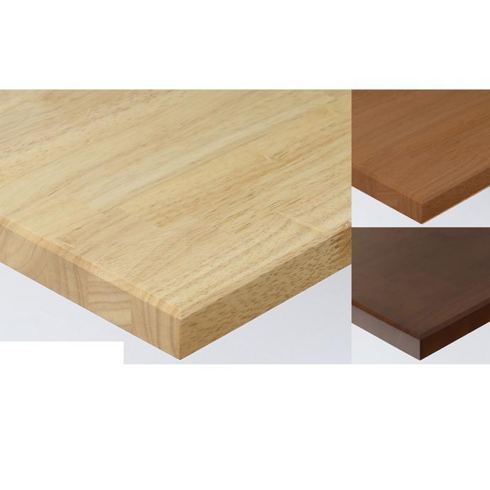 【 テーブル天板のみ 】テーブル天板 ラバーウッド集成材 天然木無垢 キリ面仕上 T-0074 W600×D600×t30 【 テーブル天板 パーツ 机 DIY 】