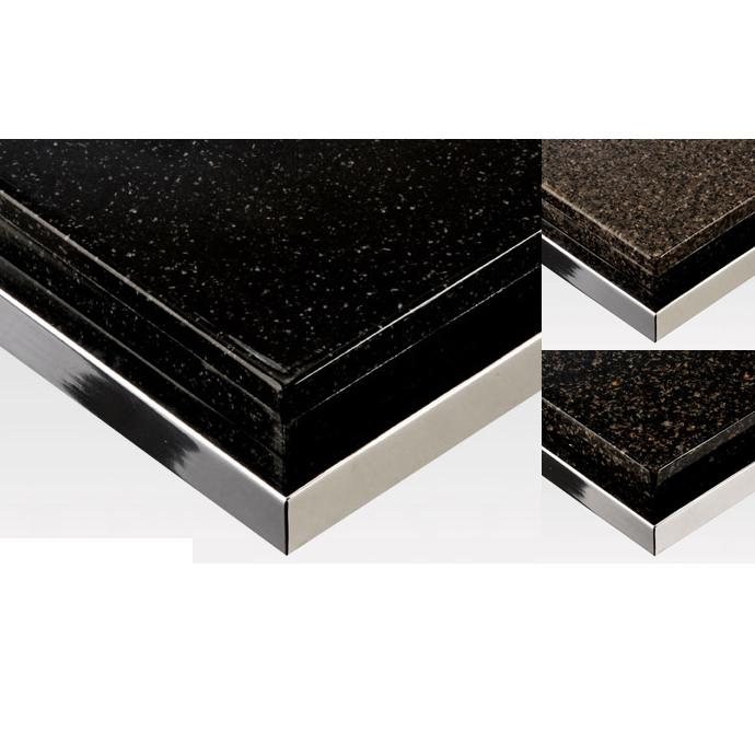 【 テーブル天板のみ 】テーブル天板 人工大理石 フレーム付き(クロームメッキ) T-0078 W1200×D600×t40 【 テーブル天板 パーツ 机 DIY 】