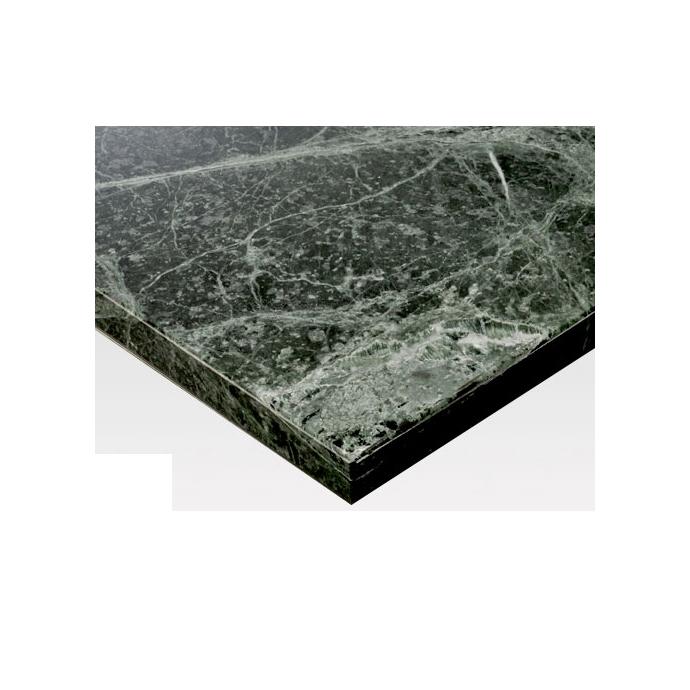 【 テーブル天板のみ 】テーブル天板 天然大理石 ディノスグリーン フレームなし T-0083 W600×D600×t30 【 テーブル天板 パーツ 机 DIY 】