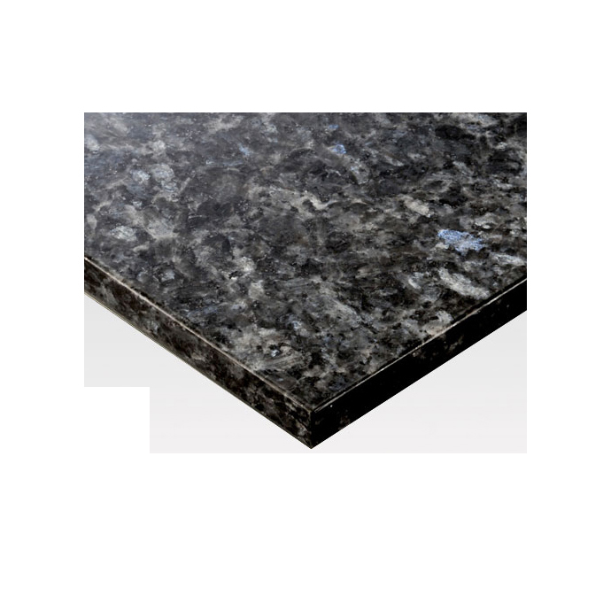 【 テーブル 天板のみ 】テーブル天板 天然御影石 ブルーパール フレームなし T-0084 W1200×D600×t30 【 テーブル天板 パーツ 机 DIY 】