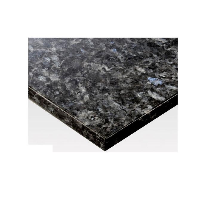 【 テーブル 天板のみ 】テーブル天板 天然御影石 ブルーパール フレームなし T-0084 W600×D600×t30 【 テーブル天板 パーツ 机 DIY 】