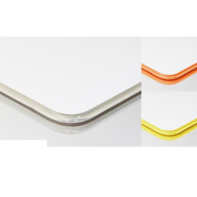 【 テーブル 天板のみ 】テーブル天板 メラミン化粧板 クリアエッジ(ハイ) 相合指定柄・単色 T-0095 W600×D600×t29 【 テーブル天板 パーツ 机 DIY 】