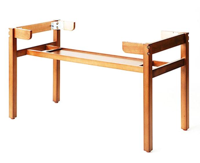 【 テーブル 脚 パーツ 木製 】 テーブル脚(木製脚) M3-DQ (DB ダークブラウン) 【ワークス】