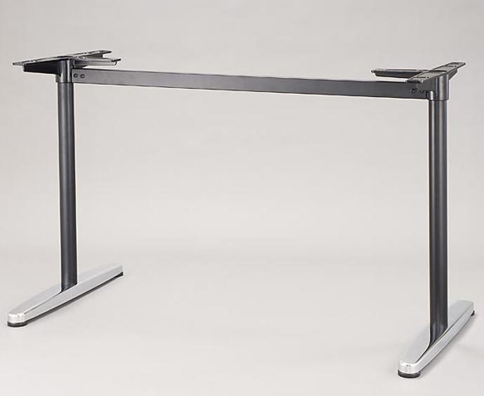 【 テーブル 脚 パーツ テーブル 机 パーツ ダイニング 店舗 テーブル脚 テーブル 部品 テーブル 脚 パーツ 単品 】 テーブル脚(対立脚) T-5 (KC 黒/鏡面、SC シルバー/鏡面) 【ワークス】