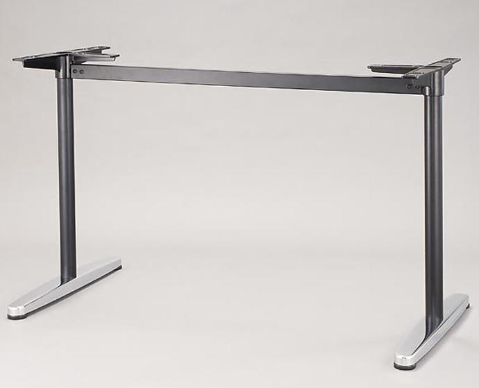 【 テーブル 脚 パーツ テーブル 机 パーツ ダイニング 店舗 テーブル脚 テーブル 部品 テーブル 脚 パーツ 単品 】 テーブル脚(対立脚) T-6 (KC 黒/鏡面、SC シルバー/鏡面) 【ワークス】