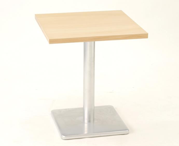 【 カフェテーブル】 テーブル メラミン化粧板(ストライプテープ巻き仕上げ)W600×D600(脚:B-1)