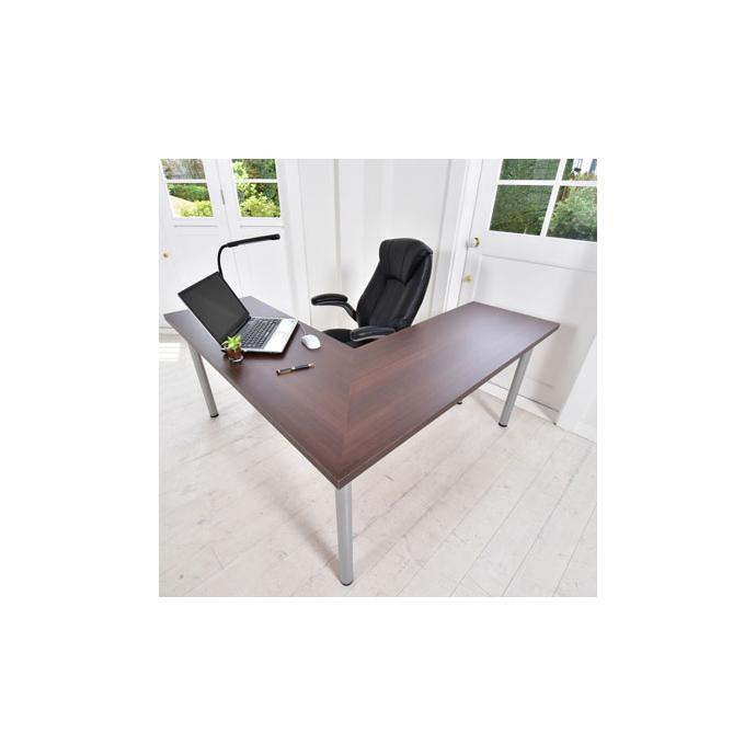 L字テーブル(木目) W1500×D1500 ■ テーブル シンプル デスク オフィス 机 作業 テーブル 会社 店舗 スタイリッシュ テーブル シンプル 机 家庭 木製調 デスク