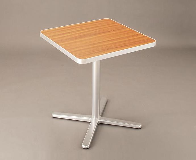 【 カフェテーブル 】 テーブル メラミン化粧板(アルミエッジ巻き[フラット]) W600×D600(脚:D-2)