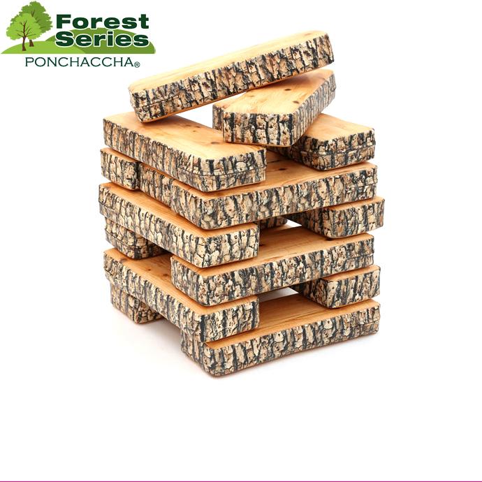 クッション フォレストシリーズ 樹皮ログスタックパズル クッション おもちゃ ブロック 大きい おもちゃ 遊具 キッズルーム ウッド 木 クッション ジェンガー 日本製