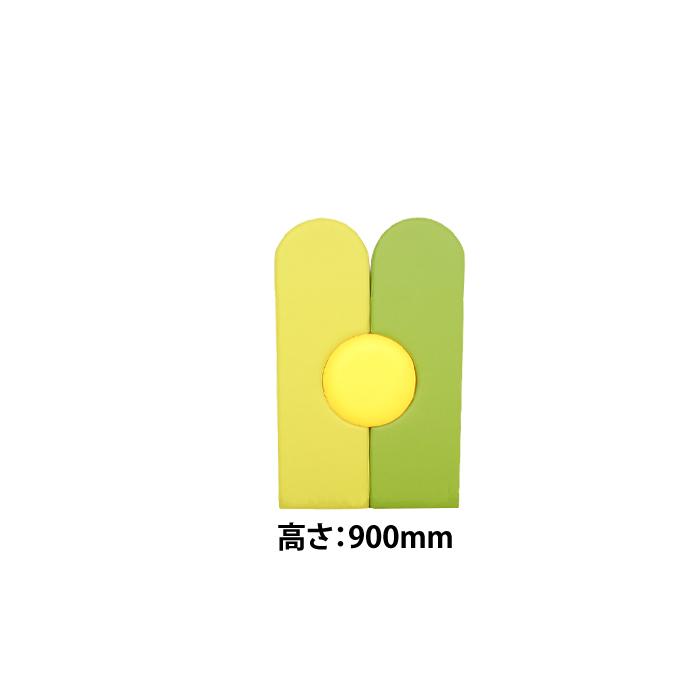 キッズコーナー ウォールマット 高さ900mm KPL-3(2枚組+丸型) / 壁 保護シート 赤ちゃん 保護 シール キッズ キッズスペース キッズルーム ウォールマット 【ワークス】