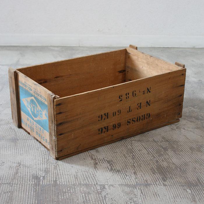 WOOD BOX 【海外直輸入中古品】【中古】アンティーク ヴィンテージ 木製 家具 インテリア antique industrial vintage furniture 木箱 収納 WOOD BOX アメリカ