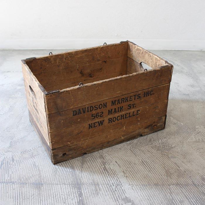 ウッドボックス FOLDING WOOD BOX 【海外直輸入中古品】【中古】アンティーク ヴィンテージ 木製 家具 インテリア antique industrial vintage furniture 木箱 収納 WOOD BOX アメリカ