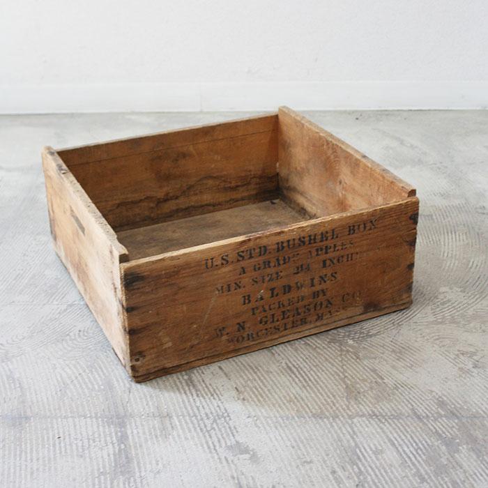 アンティーク ウッドボックス 木箱 ボックス 箱 収納 収納ボックス ヴィンテージ ビンテージ 木製 天然木 ◆高品質 家具 インダストリアル おしゃれ 雑貨 インテリア 中古 輸入家具 一点物 リビング アメリカ製 カントリー 送料無料 ディスプレイ AL完売しました レトロ ウッド アメリカ カフェ