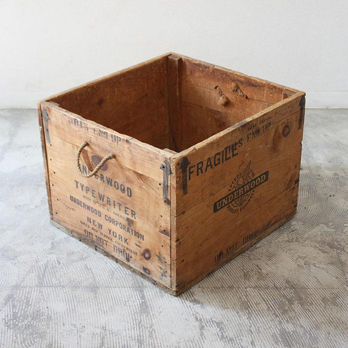 アンティーク ウッドボックス 木箱 ボックス 箱 収納 収納ボックス ヴィンテージ ビンテージ 木製 天然木 家具 インダストリアル おしゃれ インテリア 海外 カフェ アメリカ製 輸入家具 雑貨 リビング レトロ 中古 ディスプレイ アメリカ 一点物 限定モデル カントリー ウッド